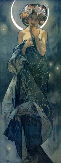 Moon, Alphonse Mucha