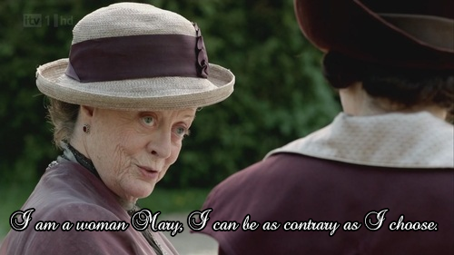 Lady Violet Grantham, the Dowager Countess